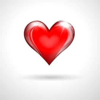 赤いガラスの心