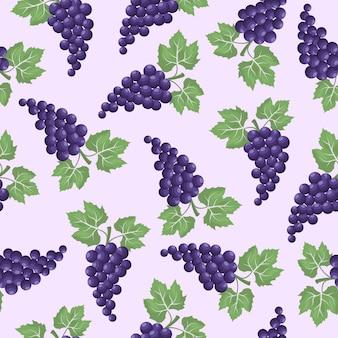 グレープフルーツのシームレスパターン