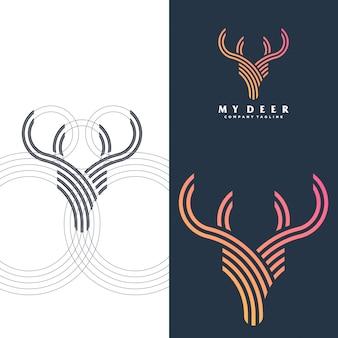 シンプルな鹿のロゴ