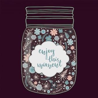 瓶の中の美しい明るい花