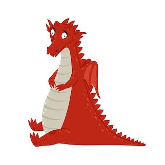 Милый мультфильм дракон