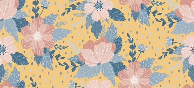 Красивый цветочный узор с цветком. цветочные бесшовные фон для модных принтов.