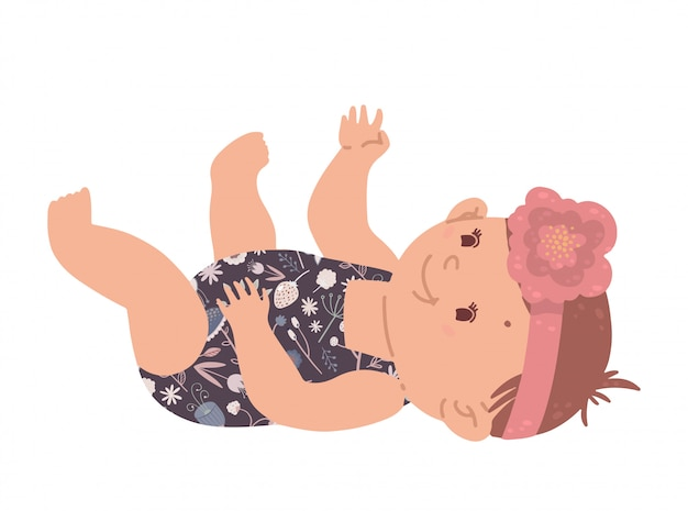 Милая девочка счастливый маленький ребенок изолирован.