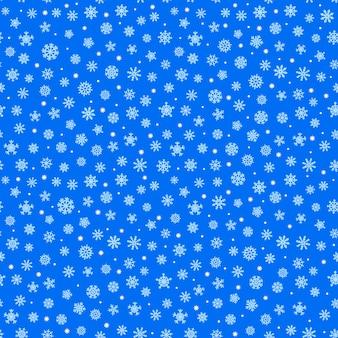 Абстрактная композиция из снежинок бесшовный фон