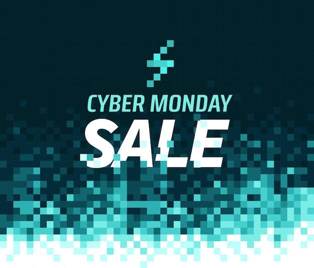 Кибер понедельник распродажа. мозаичный фон. аннотация
