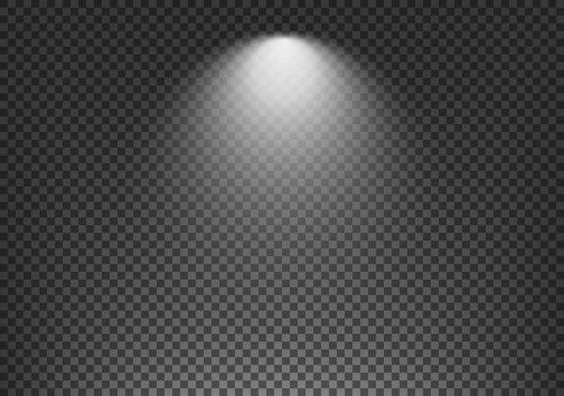 Эффект прожектора на прозрачном