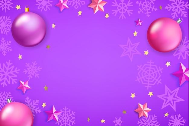 クリスマス背景ベクトルテンプレート