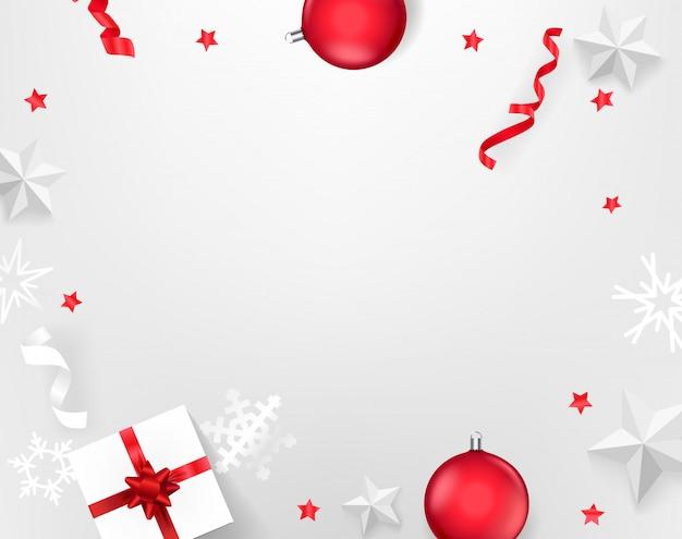 Различные рождественские элементы. вид сверху векторная иллюстрация