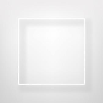 白い正方形、明るい壁ベクトルデザイン上のフレーム。
