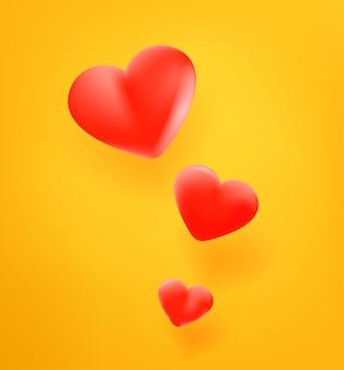Красный милый значок сердца.
