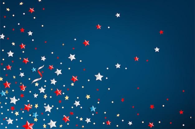 色の星と大統領の日グリーティングカード
