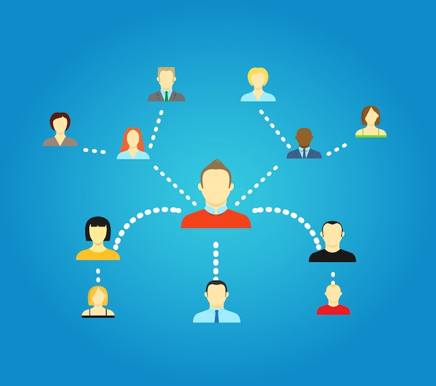 社会的ネットワークのベクトル図の抽象的な方式