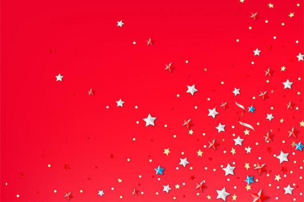 色の星と抽象的な背景