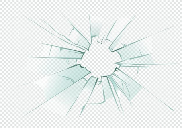 デザインの壊れた透明ガラステンプレート