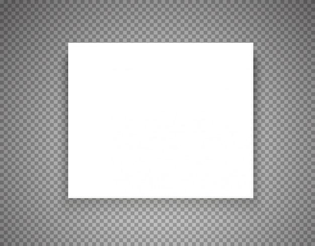 透明の空白の図枠