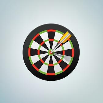 Стрела в бычьем глазу. цветная векторная иллюстрация