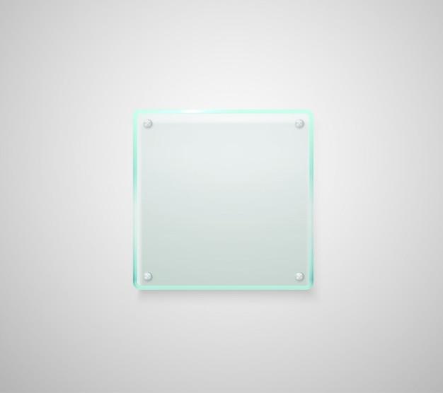Рекламная стеклянная доска. поместите свой текст
