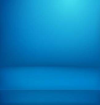青い照らされた部屋。