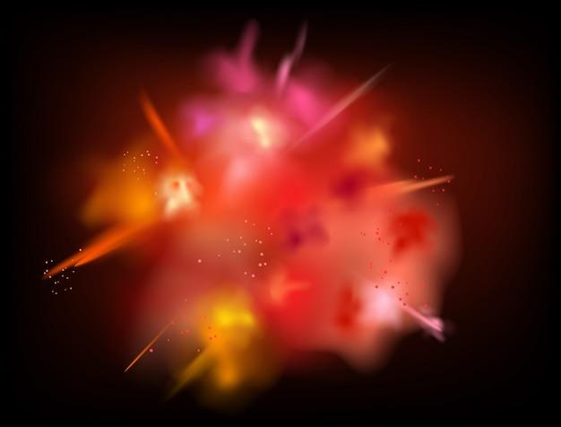 抽象的な粉体飛び散っベクトルの背景