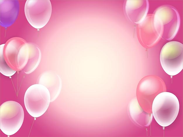気球が飛んでいます。