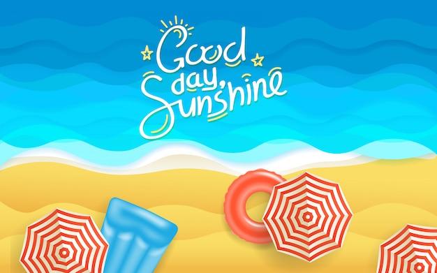 夏のビーチの図