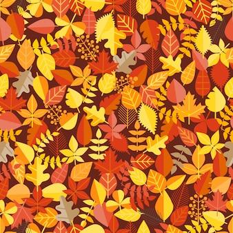 秋の葉のシームレスな背景