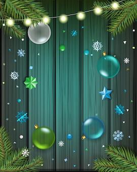 メリークリスマスと新年あけましておめでとうございますグリーティングカード。