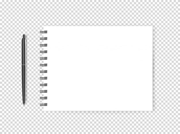 Пустая страница с ручкой