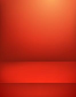赤く照らされた舞台。