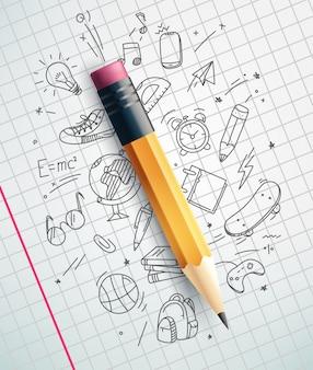 古典的な鉛筆、教育コンセプト