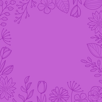 Фиолетовый цветочная рамка фон. шаблон для текста