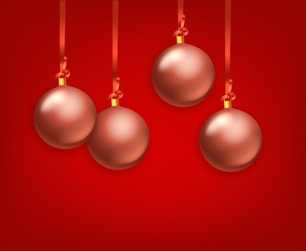Матовое стекло рождество безделушки векторная коллекция. шаблон для поздравительной открытки