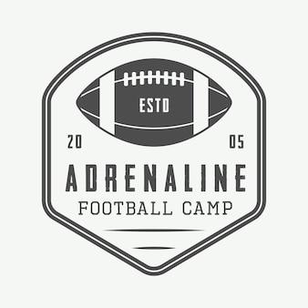 アメリカンフットボールのエンブレム、ロゴ。