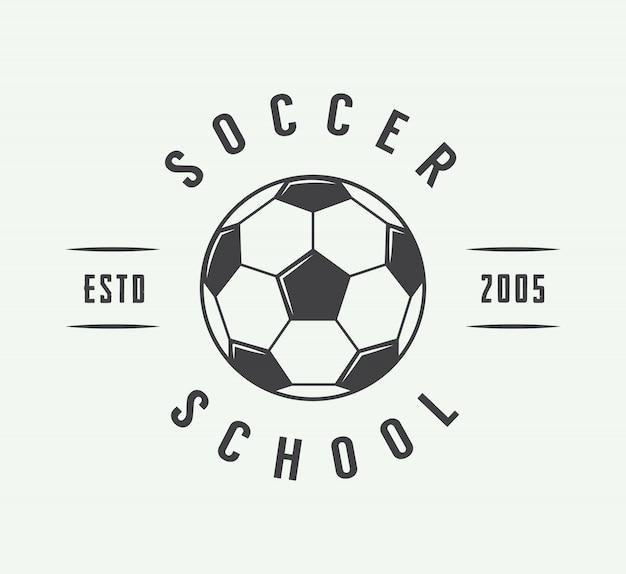 サッカーまたはフットボールのロゴ、エンブレム、バッジ。