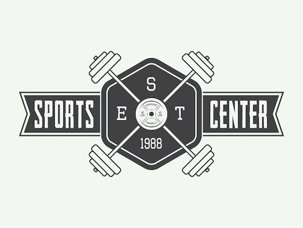 Тренажерный зал логотип я