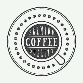Кофейный логотип, этикетка