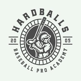 ビンテージ野球スポーツのロゴ