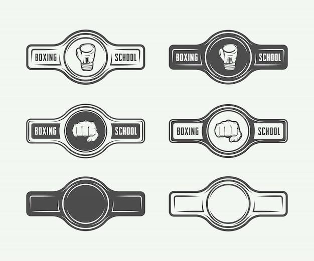 ボクシングと総合格闘技のロゴ