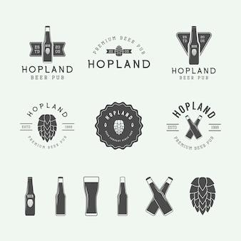 ビールとパブのロゴ