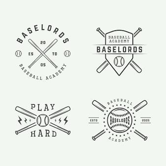 野球のロゴセット