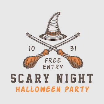 Хэллоуин логотип сетор эмблема