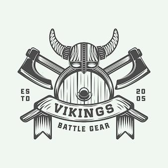 Мотивационный логотип викингов