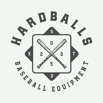野球スポーツのロゴ