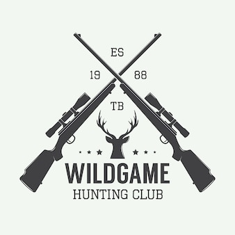 Винтажная охотничья этикетка, логотип