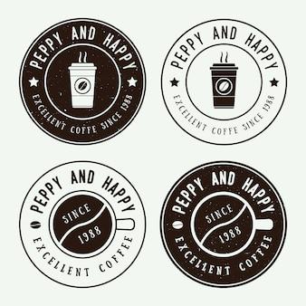 ビンテージコーヒーのロゴとエンブレム
