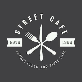 レストランのロゴ、バッジ