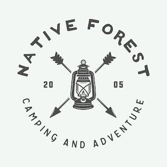 キャンプ屋外ロゴ