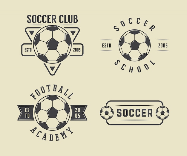サッカーまたはフットボールのロゴを設定