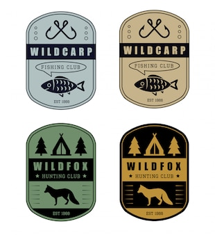 Значок для охоты и рыбалки
