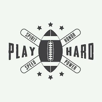 Этикетка американского футбола, эмблема